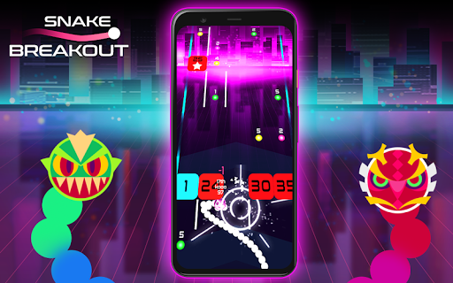 Snake Breakout: Fun PvP Battle Arcade Racing Games android2mod screenshots 7