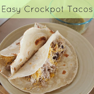 Easy CrockPot Chicken Tacos.