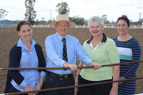 THE COUNTDOWN IS ON: Cotton pioneer Frank Hadley is looking forward to opening the Wee Waa Show on Friday night, joined here by Show Society president Peta Miguel, vice president Sue Toop and secretary Jana Collier.