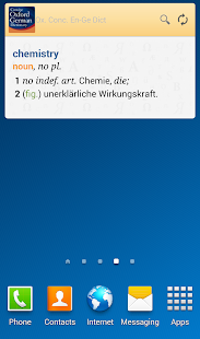 Concise Oxford German Dict. TR - screenshot thumbnail