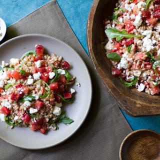 Watermelon, Tomato, and Feta Farro Salad