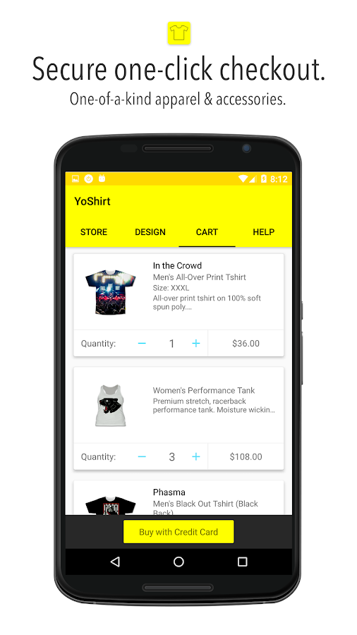 Yoshirt- screenshot