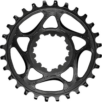 Absolute Black Round Narrow-Wide Direct Mount Chainring - SRAM 3-Bolt Direct Mount, 3mm Offset