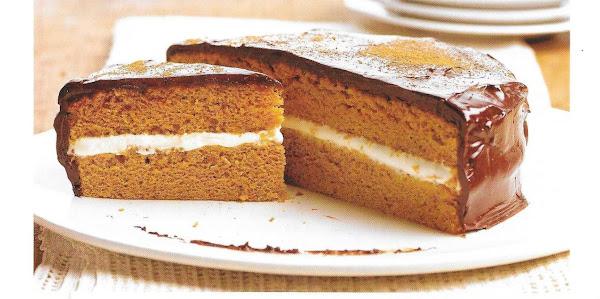 Chocolate-glazed Pumpkin Cake Recipe