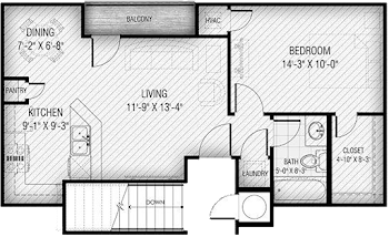Go to Flatiron 1 Floorplan page.