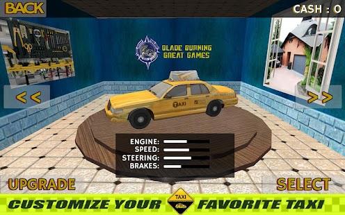 Super Taxi Parkoviště Řídit 3D - náhled