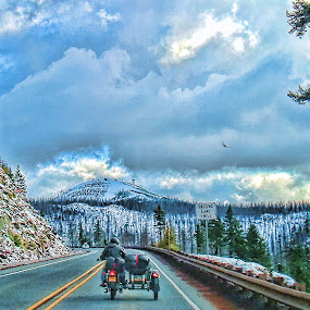 by Christy Sawyer - Transportation Motorcycles ( mountains, motorcycle, trip )