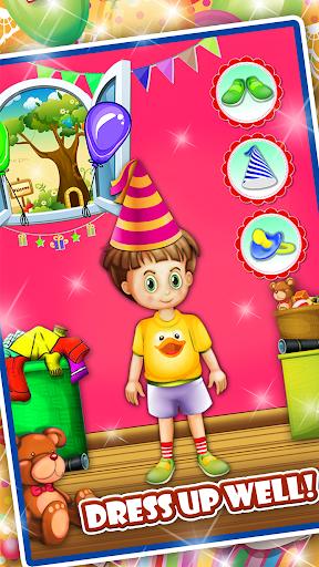 生まれたばかりの赤ちゃんの誕生日パーティー