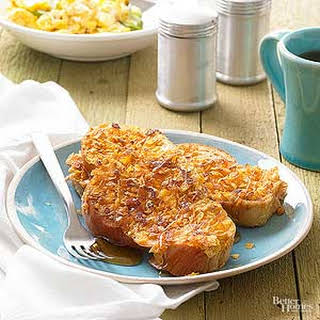 Crispy-Coated Orange French Toast.
