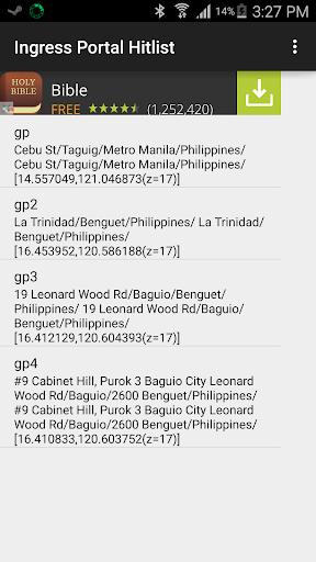 Portal Hitlist for Ingress