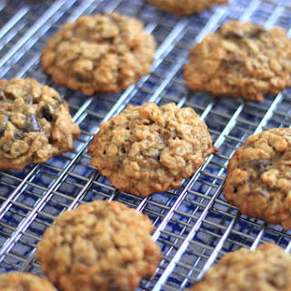 Oatmeal Peanut Butter Banana Chocolate Chip Cookies.