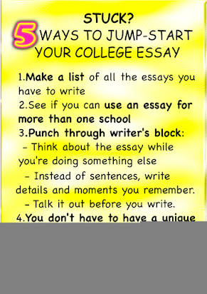 how to start your college essay