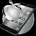 Black Apple Crystal Theme APK