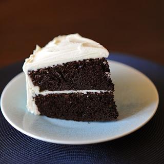 Chocolate Birthday Cake with Vanilla Frosting.