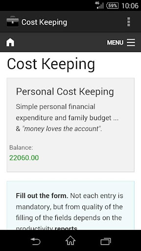 Cost Keeping