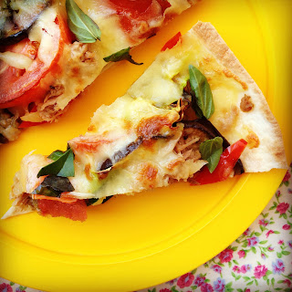 Tuna & Roasted Mediterranean Vegetable Pizza