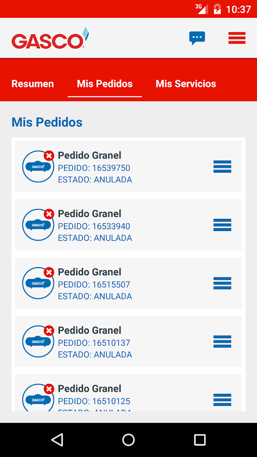 GASCO MOVIL- screenshot