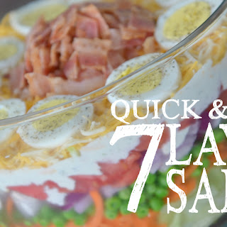 Quick & Easy 7-Layer Salad.