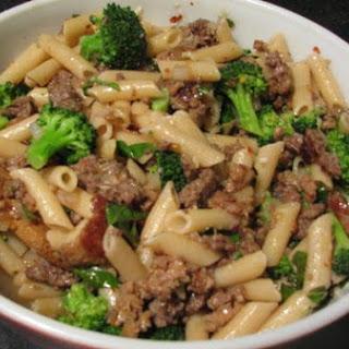 Broccoli, Sausage and Fresh Basil Pasta