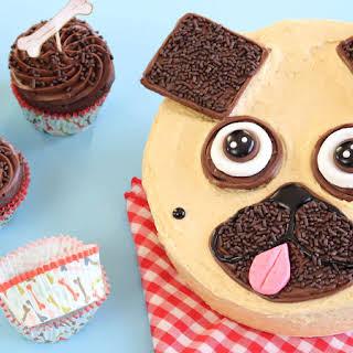 Chocolate-Peanut Butter Pug Cake.