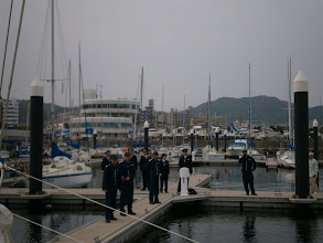 Photo: All of the Officials waiting for us on the dock
