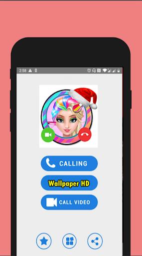 📱 Ice Queen Rainbow call you : Callprank screenshot 2