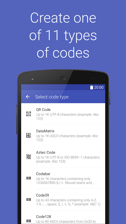 Barcode Generator- screenshot