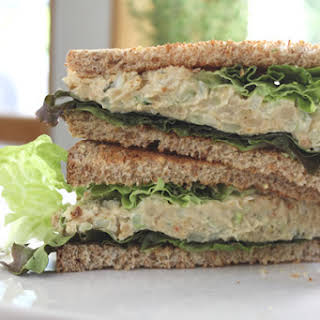Chickpea Mock Tuna Salad Sandwich.