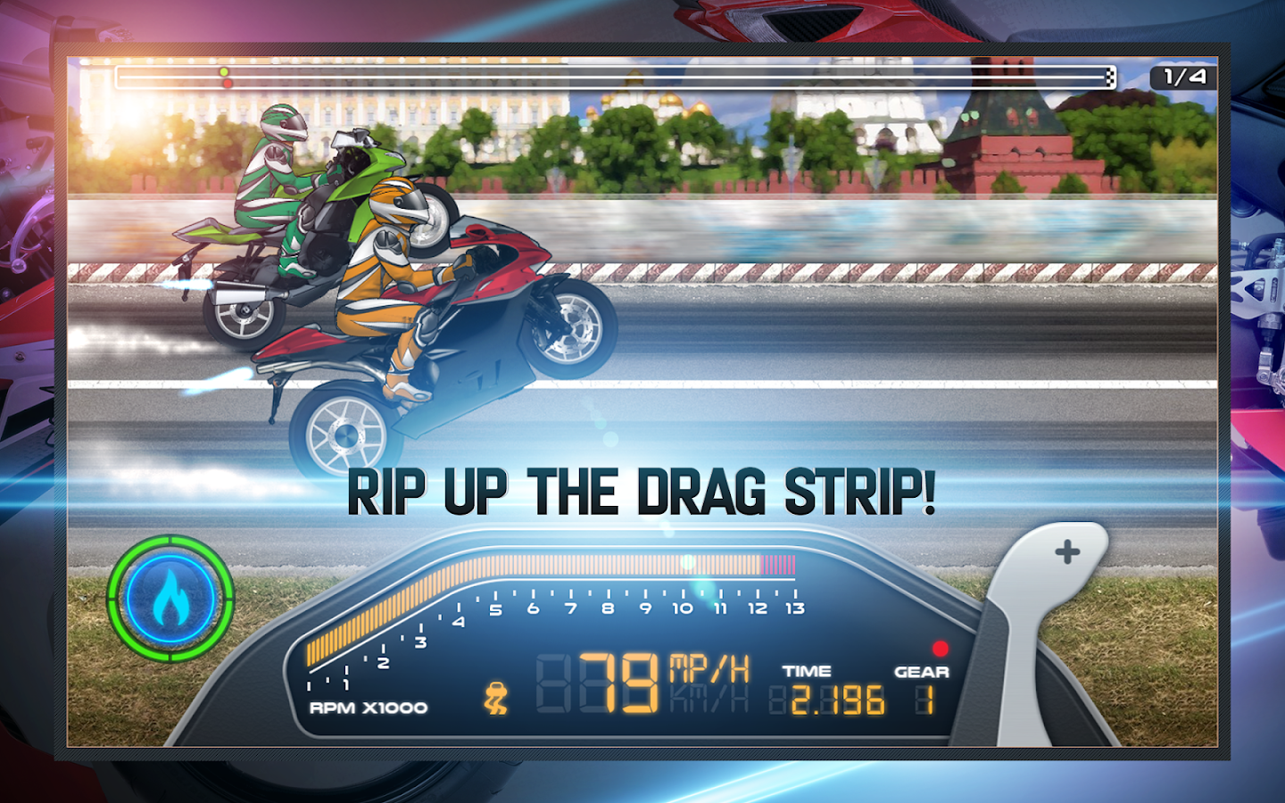 Screenshots of Drag Racing: Bike Edition for iPhone