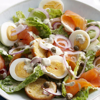Smoked Salmon Caesar Salad.