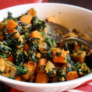 Sweet Potato, Eggplant, and Spinach Madras Curry.