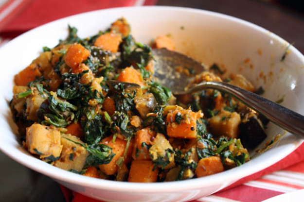 Sweet Potato, Eggplant, and Spinach Madras Curry Recipe