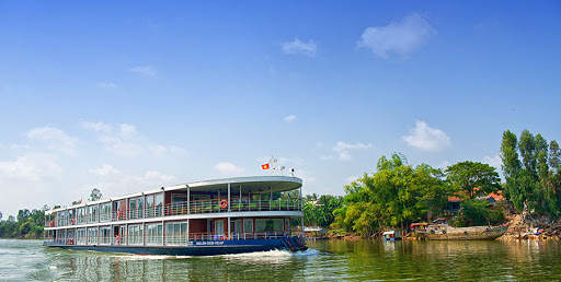 Avalon Siem Reap cruises through Vietnam and Cambodia along the Mekong River.