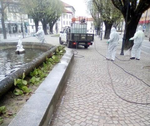 Município de Lamego prossegue com ações de desinfeção