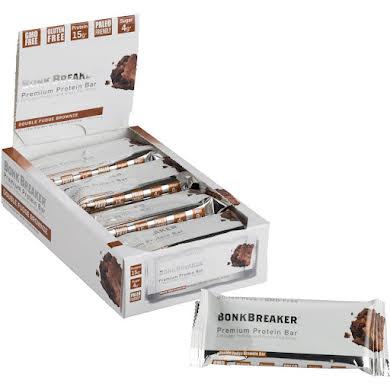 Bonk Breaker Premium Protein Bar: Double Fudge Brownie, Box of 12