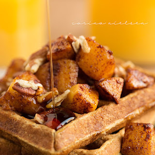 Apple Pie Protein Waffles