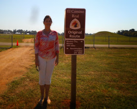 Photo: New Camino Real signage, Caddo Mounds: Mexico City, 1100 miles!  10/25/14