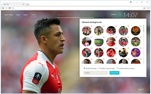 Arsenal Wallpaper HD Arsenal New Tab Themes