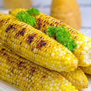 Maple Chipotle Grilled Corn