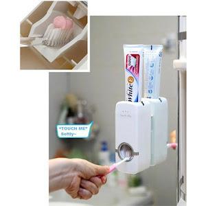 Dozator pasta de dinti prevazut cu suport pentru 5 periute