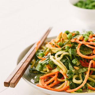 Cold Spiralized Sesame Noodle Salad.