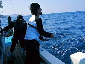 Photo: ぐおー! 1本目より大きいな! 「・・・これでキャプテンの座は頂きだな!」