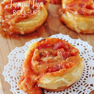 Slice and Bake Pepperoni Pizza Puff Pastry Roll-Ups.