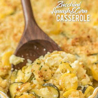 Zucchini, Squash & Corn Casserole.