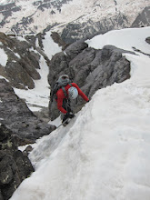 Photo: It started snowing just at the start of down climbing about 3,000ft of snow.