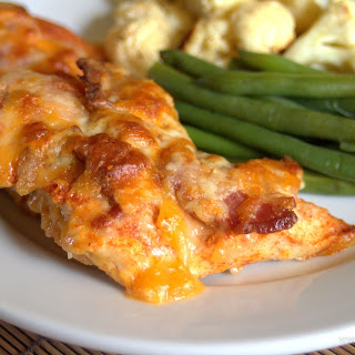 5 Minute 5 Ingredient Cheesy Bacon Chicken