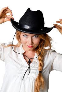 Cowboyhatt, svart