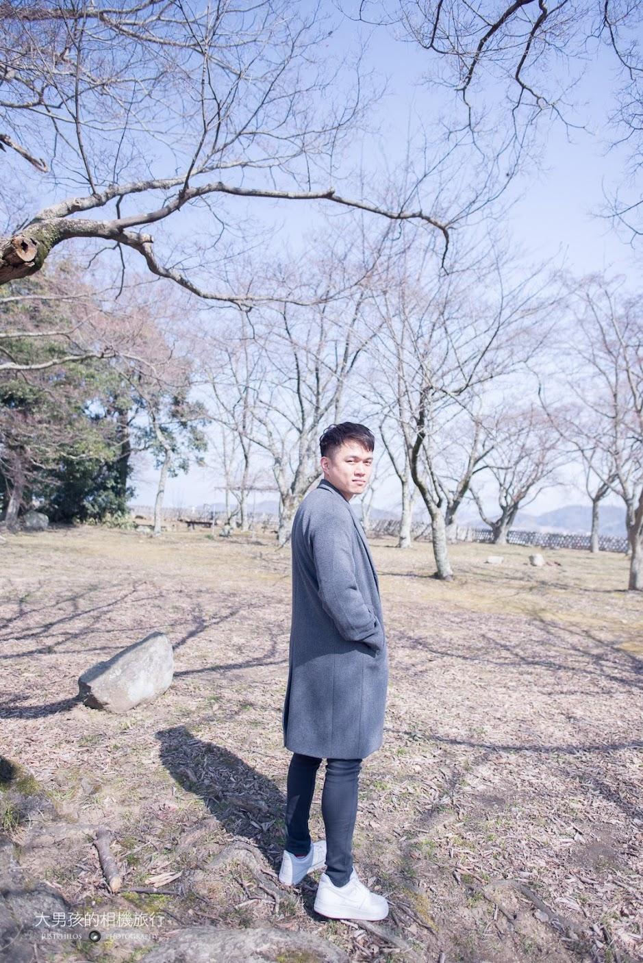 在彥根城天守閣後方的廣場拍攝人像也頗有韓劇內場景的感覺。