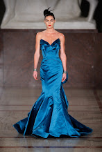 Photo: NEW YORK, NY - FEBRUARY 12:  A model walks the runway at the Zac Posen Fall 2012 fashion show during Mercedes-Benz Fashion Week at  on February 12, 2012 in New York City.  (Photo by Edward James/WireImage)