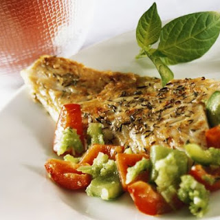 Hake Fillet with Mixed Peppers.